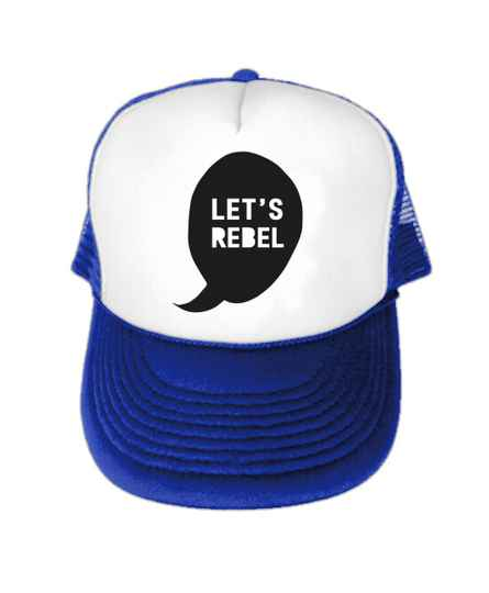 Let's Rebel Truckercap Blauw