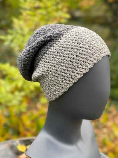 Two-Tone Beanie - Grey & Grey