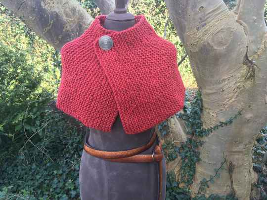 Outlander - Brianna's Capelet, rood
