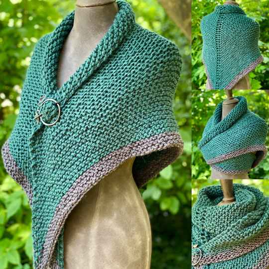 Claire's Shawl, groen, 100% wol