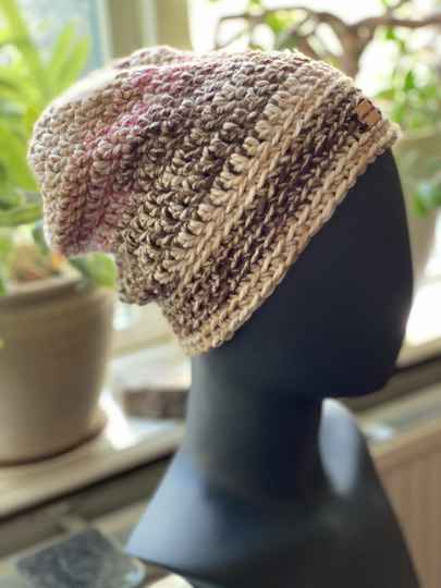 ChunkyBeanie - Brown / Rose, no-wool