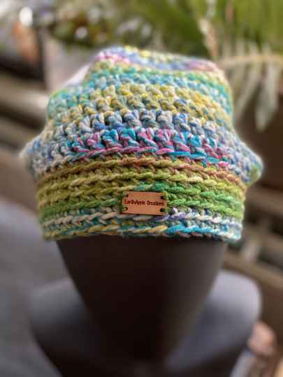 ChunkyBeanie - Summerflowers, no-wool