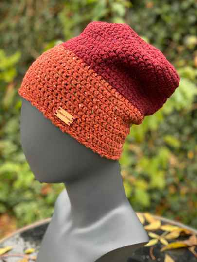 Two-Tone Beanie - Roest & Rood
