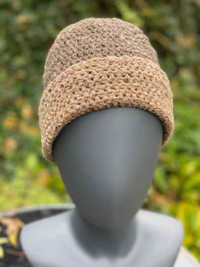Two-Tone Beanie - Brown & Brown