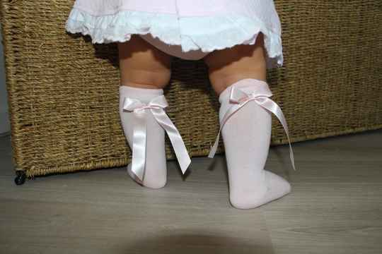 RIBBON KNEE HIGH SOCKS PINK