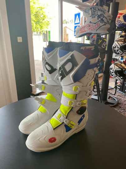 Sidi boots, wit-fluo geel, maat 45