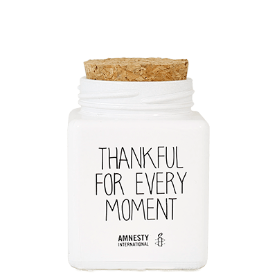 Amnesty International THANKFUL FOR EVERY MOMENT - GEUR: FRESH COTTON