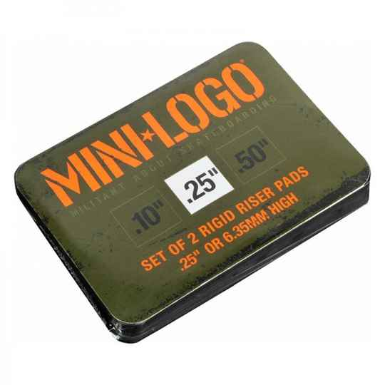 Mini Logo Riser Pad 0.25 Black -2-pack-