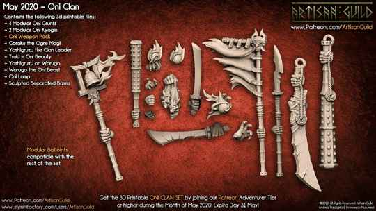 Oni Clan weapon pack