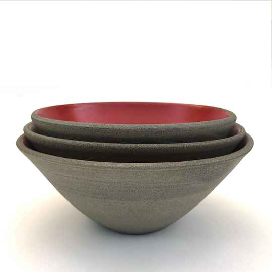 Handmade Bowls - Chilli Red Collection