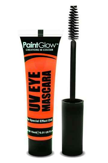 Neon UV eye mascara oranje