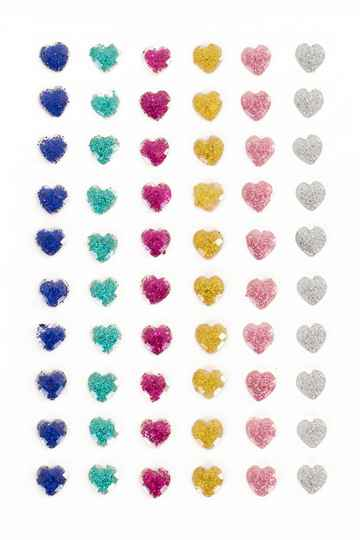 PXP Professional Colours Decoratiestickers hartje glitter 60 stuks assorti