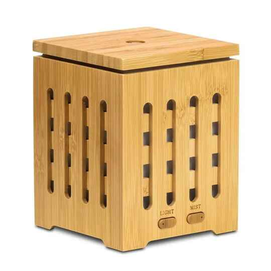Set Aroma diffuser Bamboo met 2 flesjes Bach olie