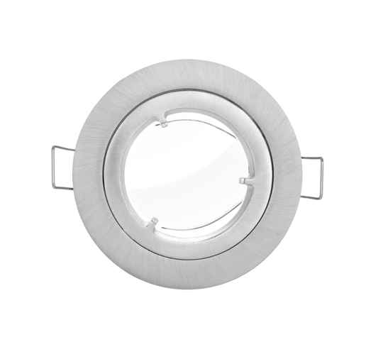 Verbatim 52403 LED GU10 Armatuur IP44 Twist Lock Brushed Aluminium Inclusief GU10 Fitting en lasdoos