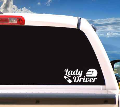Autosticker 'Lady Driver'