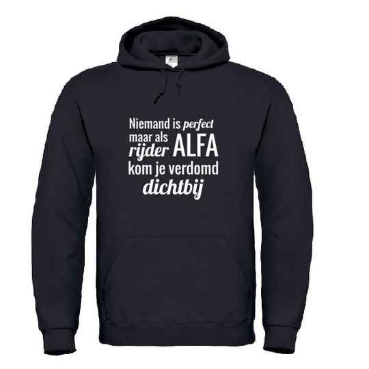 Alfa 'Niemand Is Perfect' Hoodie
