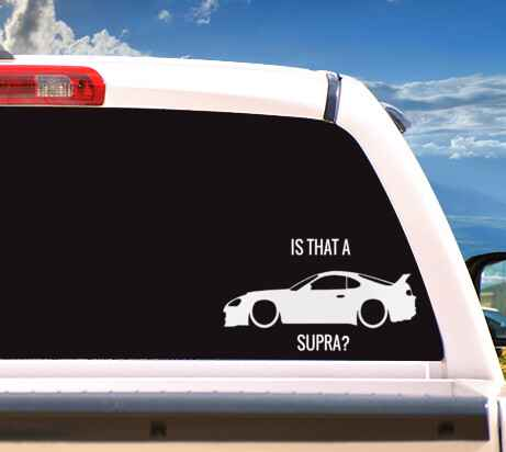 Autosticker 'IS THAT A SUPRA? (2)