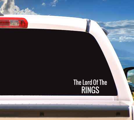 Autosticker 'The Lord Of The Rings'