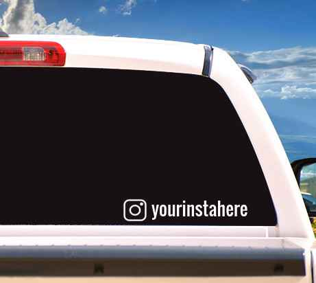 Autosticker 'Instagram Sticker'