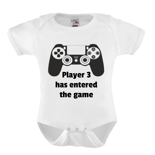 Baby Romper 'Player 3 Has Entered The Game'