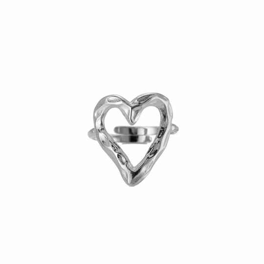 Rough Heart Ring