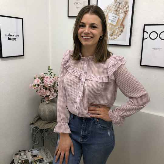 Checked Blouse - Rose