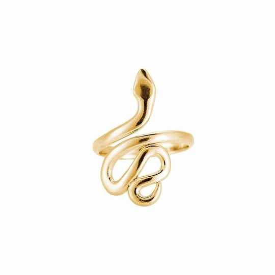 Pointed Head Snake Ring