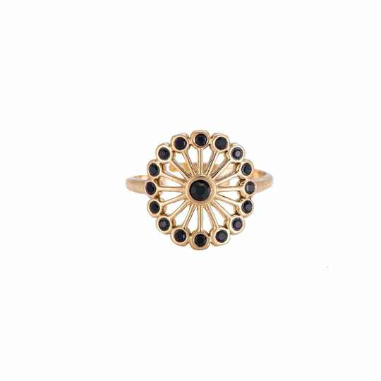 Black Flower Ring