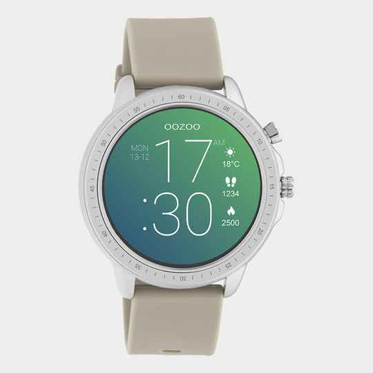Smartwatch Zilver/ Taupe