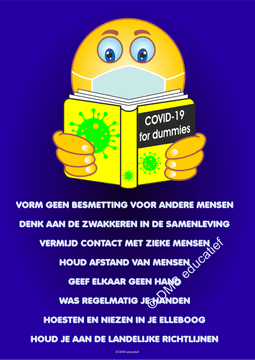 Poster Covid-19 voor dummies A3
