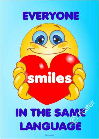Poster 'Everyone smiles' A3