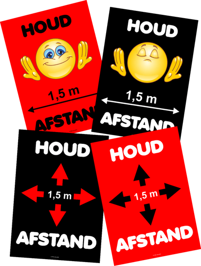 Posters 'Houd afstand' A2