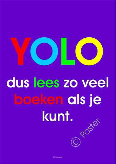 Lees poster 'Yolo' A3