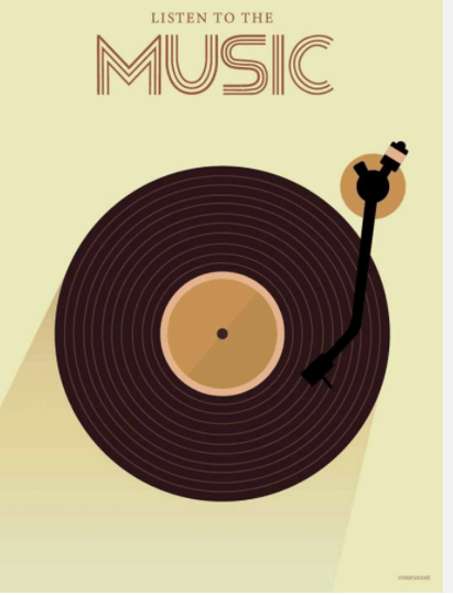 Poster LISTEN TO THE MUSIC
