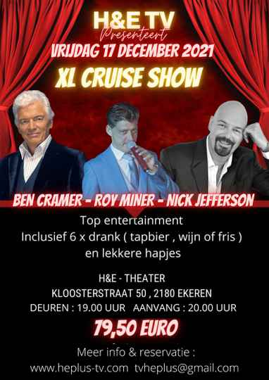 TICKETS XL CRUISE SHOW 17 DECEMBER 2021