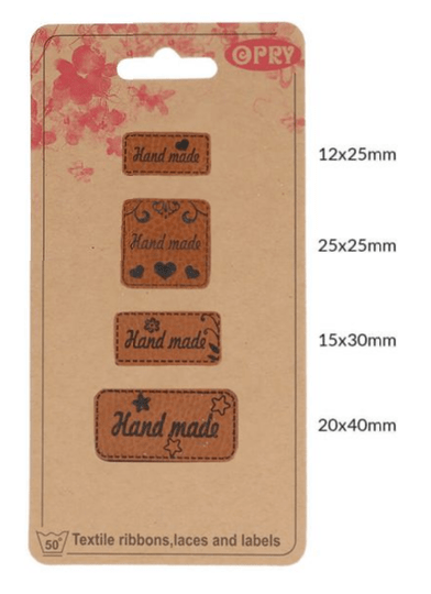 Hand made labels