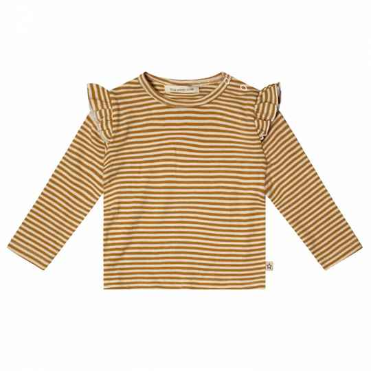 Your Wishes | Top Ruffle Gold Stripes