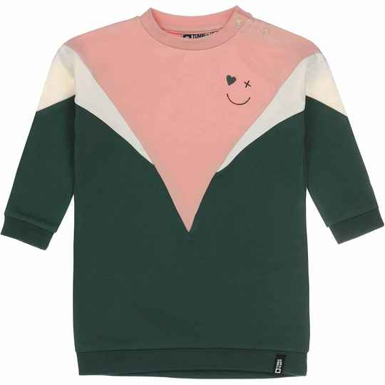 Tumble 'n Dry | Sweatdress Geraldine Pink Green