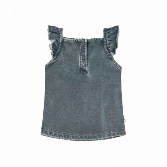 Your Wishes | Singlet Ruffle Knitted Denim