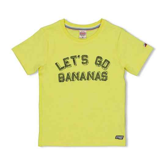 Sturdy | T-Shirt Geel Let's Go - Playground