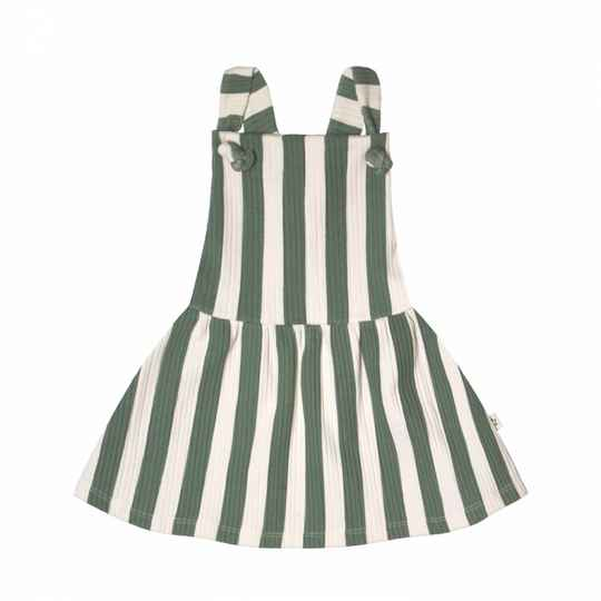 Your Wishes | Dungaree Dress Bold Stripes