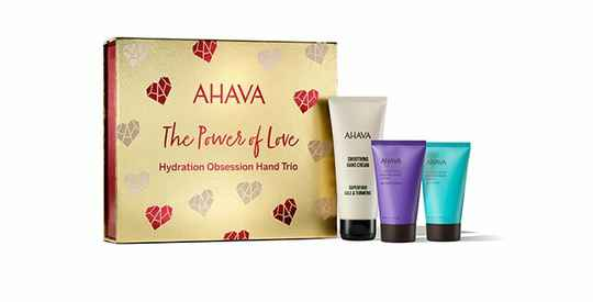 Hydration Obsession Hand trio - Ahava holiday collection 2021