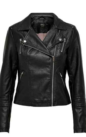 Only Gemma faux leather jacket BL/GR