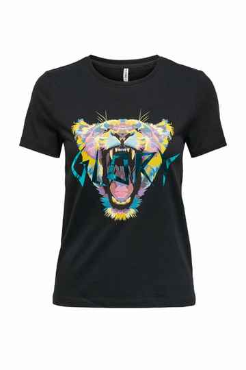 Only Faye life tiger top 2 print0