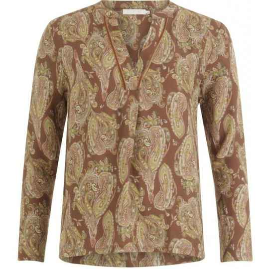 stijlvolle blouse in paisley print