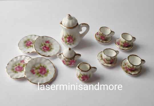 Servies Country rose 1:12