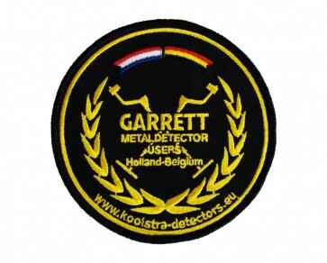 Team Garrett Metaldetector Users Holland Belgium patch