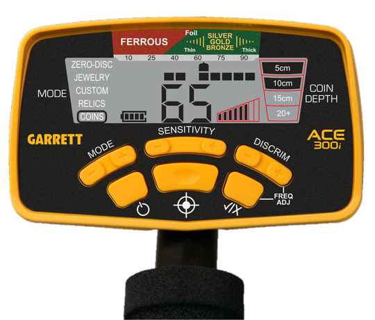 Garrett Ace 300i display sticker