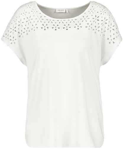 Gerry Weber - Top in wit met broderie anglaise 48626 (570313-35113-99600)