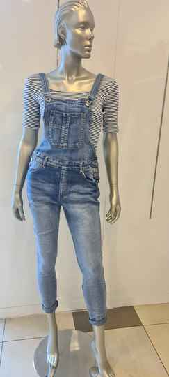 Salopette stretch denim